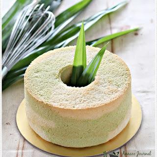 Pandan Marble Chiffon Cake.