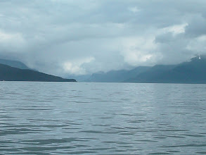 Photo: Looking up northwest up Gastineau Channel toward Juneau from Stephens Passage.