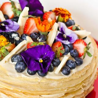 White Chocolate Mousse Crepe Cake.