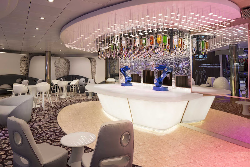 Meet a robotic bartender (just don't try to chat one up) at the Bionic Bar on Harmony of the Seas.