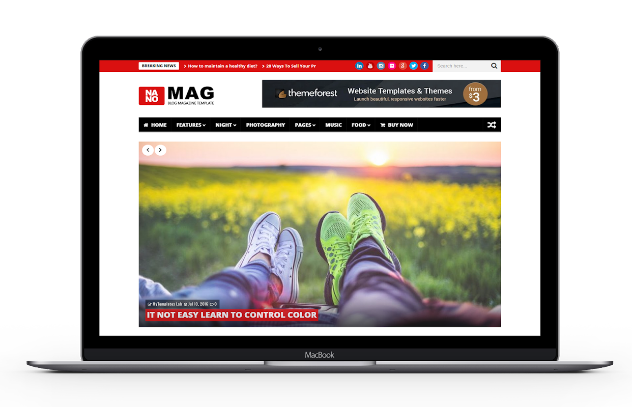NanoMag - Responsive Blog & Magazine Blogger Template - 14