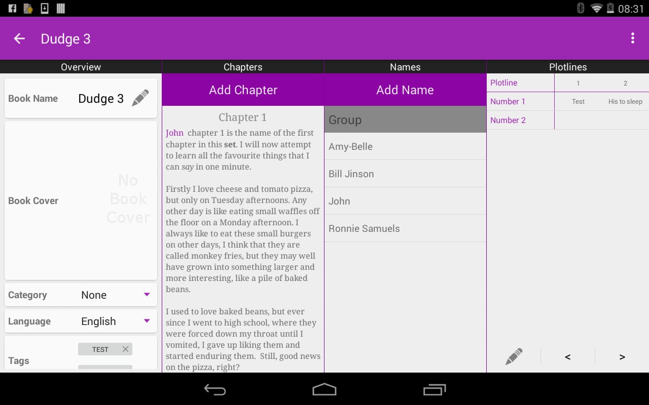 free book writing app for android