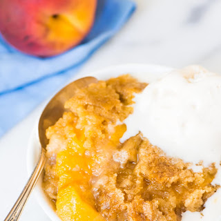 Crock Pot Peach Cobbler