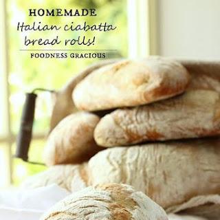 Homemade Ciabatta Bread Rolls.