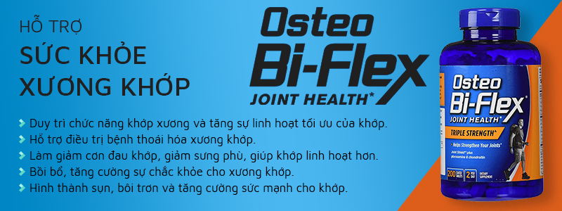 Osteo Bi-Flex Triple Strength tăng cường sức khỏe xương khớp