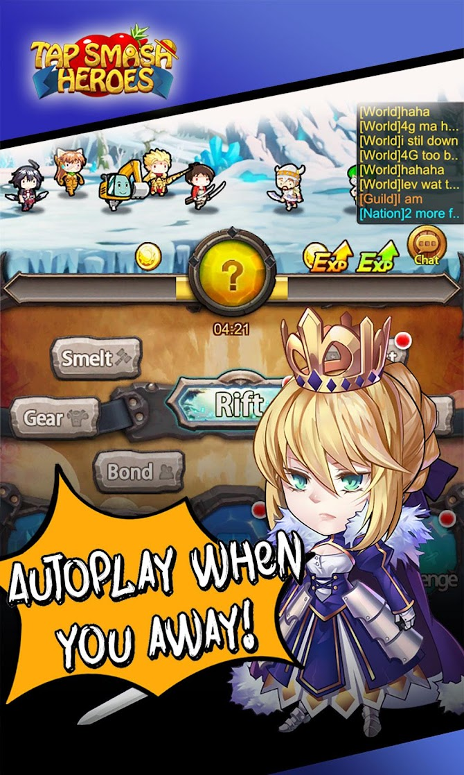 Tap Smash Heroes: Idle RPG Game Android 2