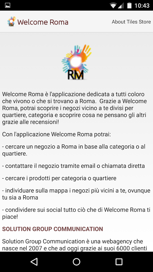 Welcome Roma- screenshot