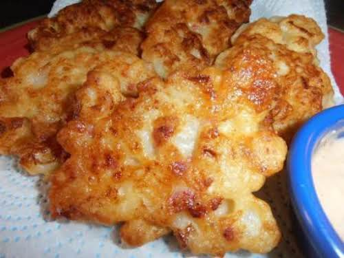 "Cauliflower Fritters ""If you have someone in your family that doesn't like..."