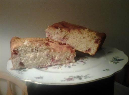 Strawberry Oatmeal Yogurt Cake