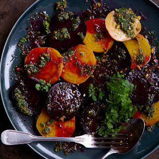 Roasted Beets with Pistachios, Herbs and Orange
