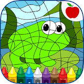 Color By Number Kids Art Game