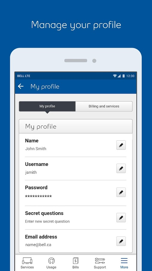 MyBell Mobile- screenshot