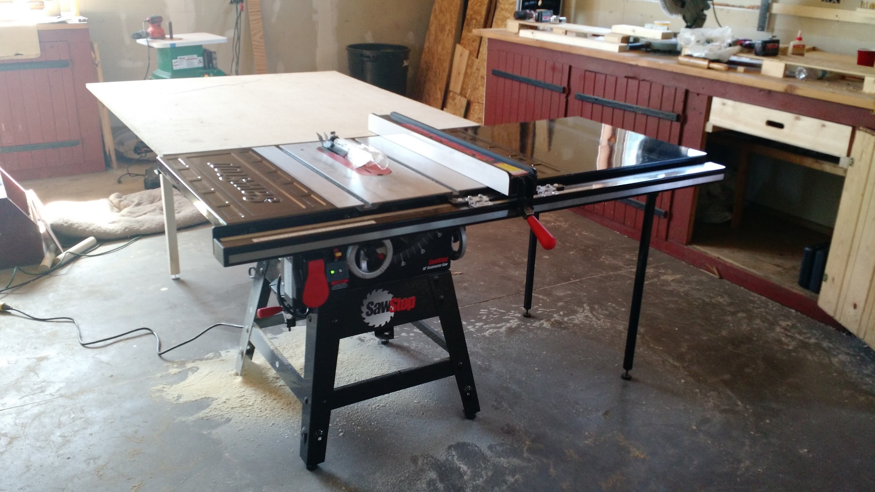 with extension professional sawstop cabinet dp jet saw hp assembly larger view table