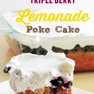 Triple Berry Lemonade Poke Cake