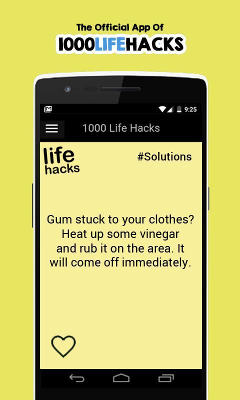 1000 Life Hacks Screenshot