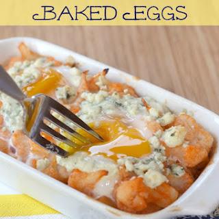 Buffalo Cauliflower Baked Eggs