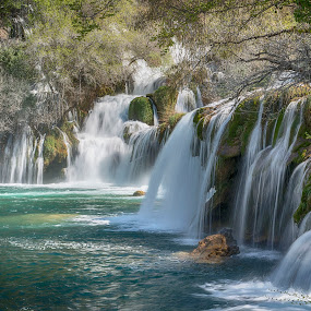 Krka waterfalls by Dubravka Krickic - Landscapes Waterscapes ( waterfalls, nature, croatia, spring, river,  )