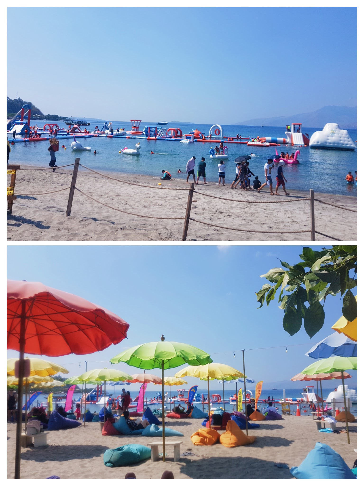 The Biggest Floating Playground in Asia: Inflatable Island in Subic - Beach and Bali lounge | www.wearejuanderers.com