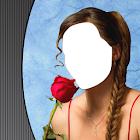 Фотомонтаж девушки-косички icon