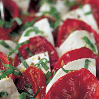 Roasted Tomato Caprese Salad.