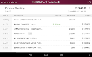 Screenshot of The BANK of Edwardsville