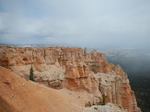 Photo: The weather looked a little dire when we arrived. Clouds and snow flurries.