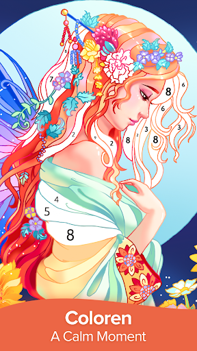 Coloren - Color by Number & Puzzle Games apkpoly screenshots 1