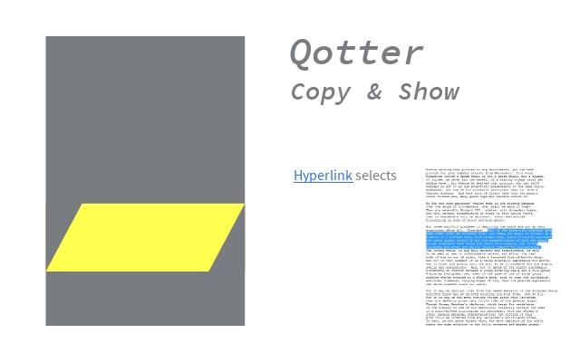 Qotter Copy & Show