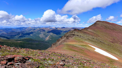 """Photo: Red Mountain is the highest mountain in the Bob Marshall Wilderness Complex, which includes """"the Bob"""", the Great Bear, and the Scapegoat (shown here)."""
