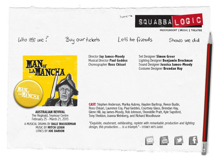 Squabbalogic Independent Music Theatre - Man Of La Mancha
