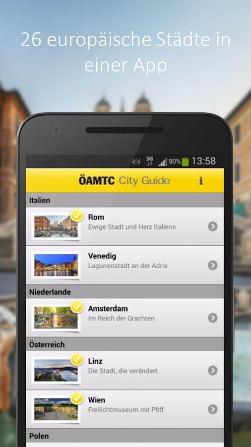 ÖAMTC City Guide – Screenshot