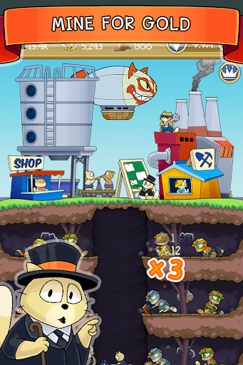Dig it! - idle cat miner tycoon apktram screenshots 1