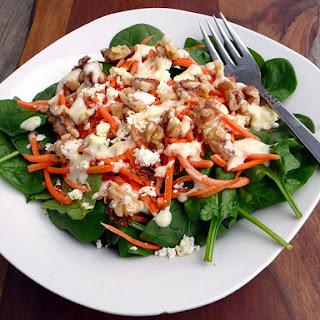 Feta Walnut Spinach Salad