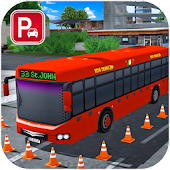 City Bus Driving Simulator : Bus Parking