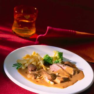 Maronen-Sauce z. B. zu Entenbrust