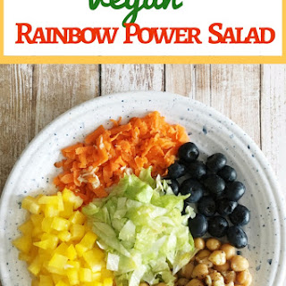 Vegan Rainbow Power Salad.