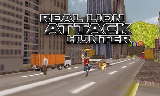 Real Lion Attack Hunter - náhled
