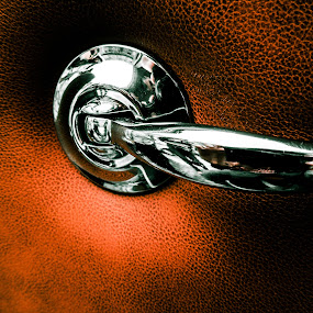 Orange door handle by Jadran Korać - Transportation Automobiles ( orange, old car, vintage, shine, mercedes, door handle,  )
