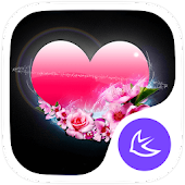 Pink Heart-APUS Launcher theme