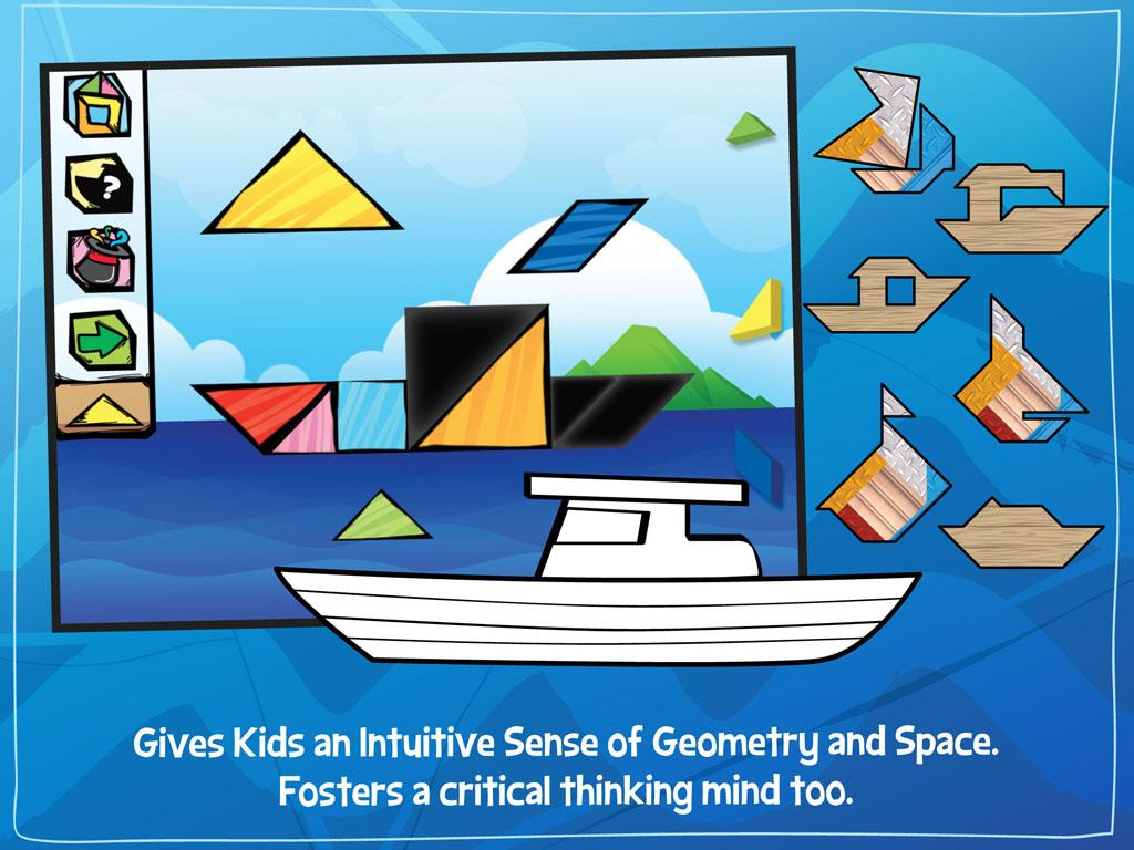 Kids Tangram Puzzles: Ships- screenshot