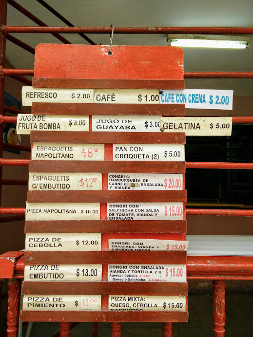 How much do things cost in Cuba? These prices are in moneda nacional  or CUP