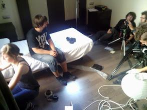 Photo: Preparando la habitación para grabar