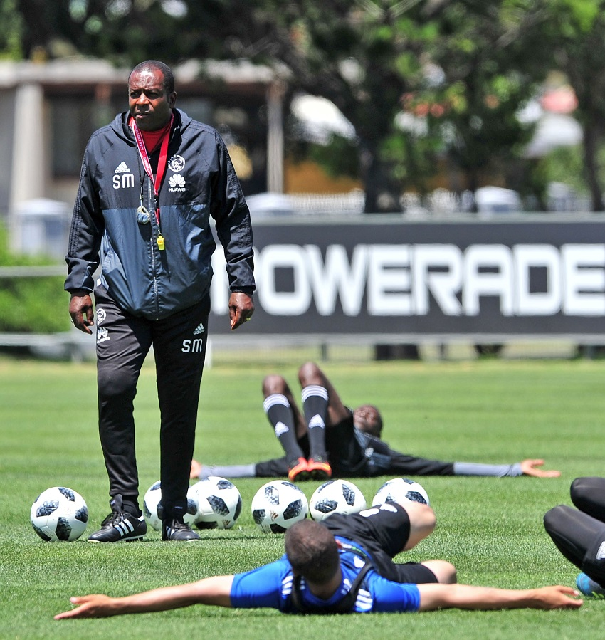 Stanley Menzo, coach of Ajax Cape Town during the Ajax Cape Town training session ay Ikamva, Cape Town on 4 December 2017.