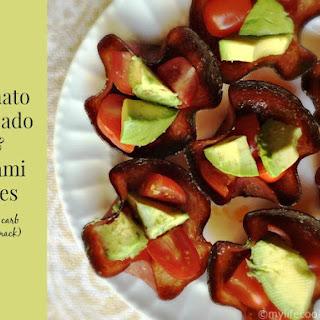 Tomato Avocado and Salami Bites (a low carb Paleo snack)