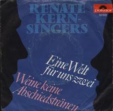 Photo: 1966 - Eine Welt für uns zwei (als Renate Kern Singers - diff. Cover)