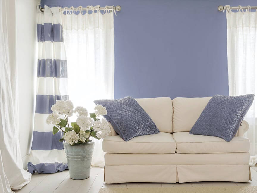 Living Room painted with PPG Violet Verbena