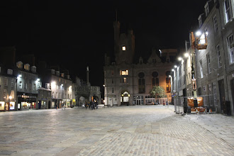 Photo: some square at night