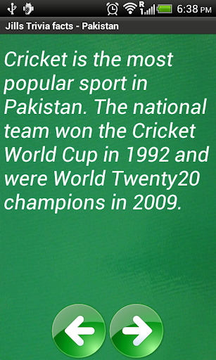 Jill's Trivia facts: Pakistan