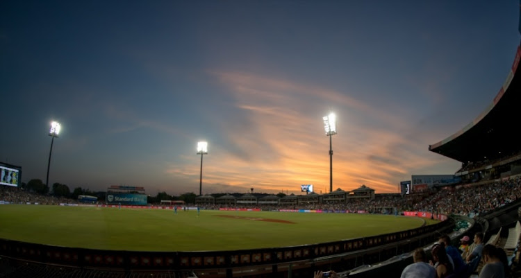 Sun going down quickly on the Hollywoodbets Dolphins innings against the Multiply Titans during the RAM SLAM T20 Challenge, Final match between Multiply Titans and Hollywoodbets Dolphins at SuperSport Park on December 16, 2017 in Pretoria.