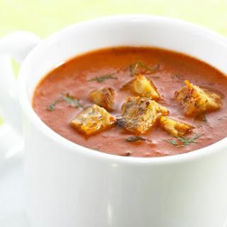 Tempeh Tomato Vegetable Soup.